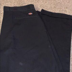 Men's black dickies pants